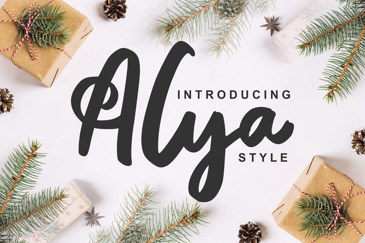 Alya | Brush Style Font example image 1