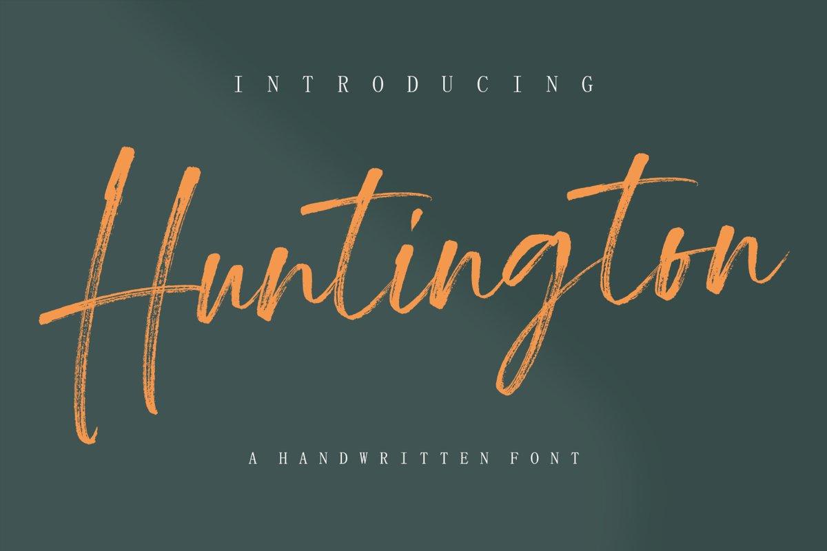 Huntington - Handwritten fonts example image 1
