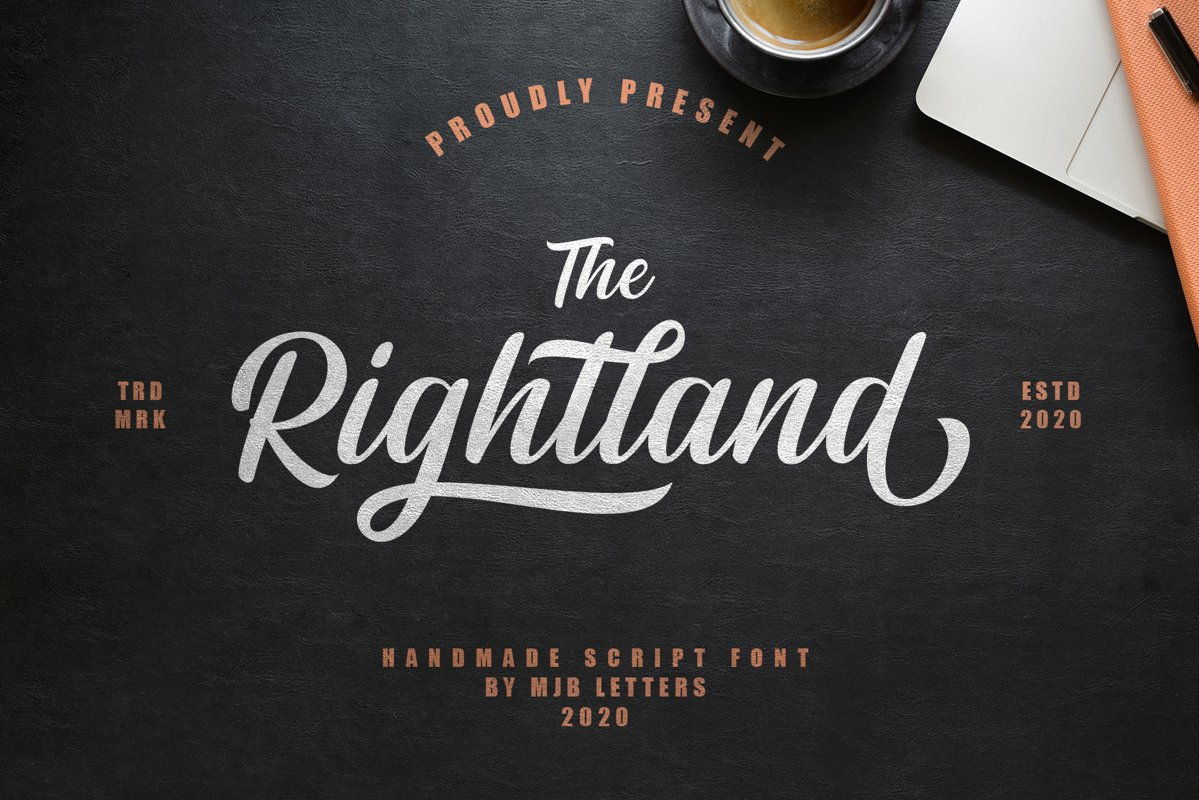 Rightland - Modern Bold Script example image 1