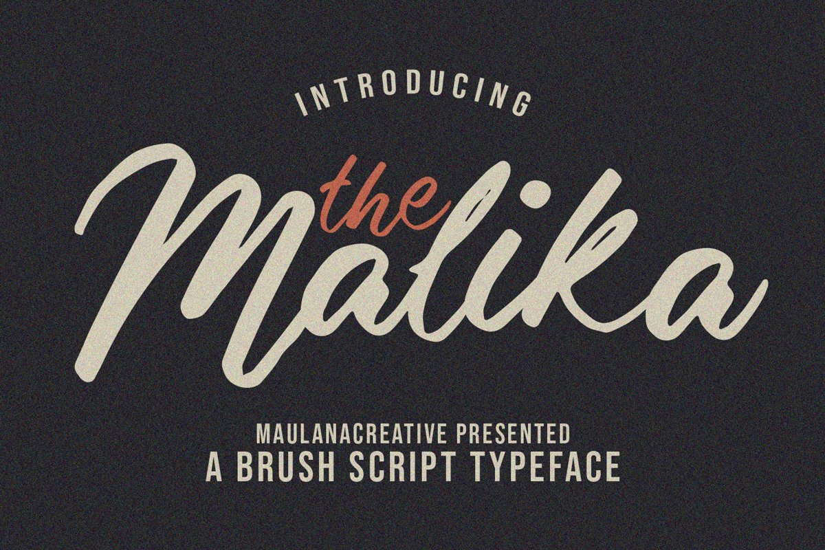 Malika Brush Script Typeface example image 1