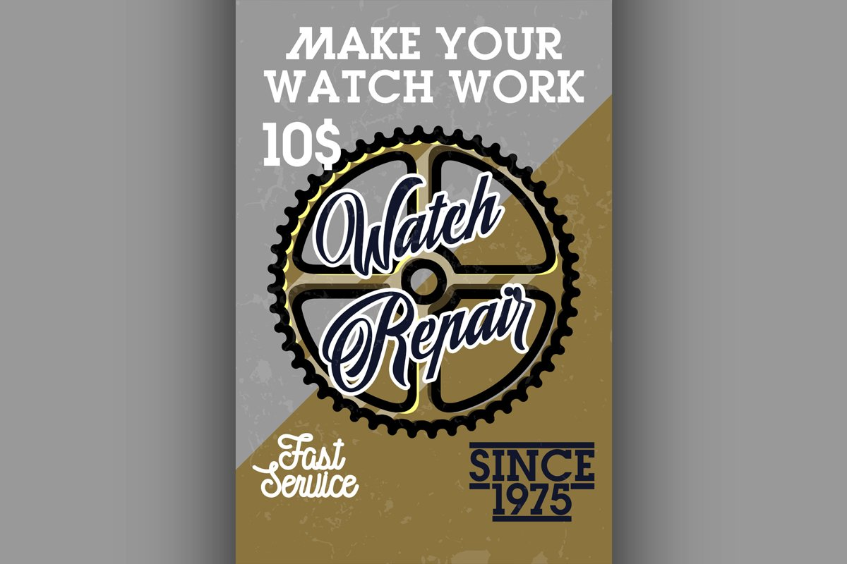 Color vintage watch repair banner example image 1
