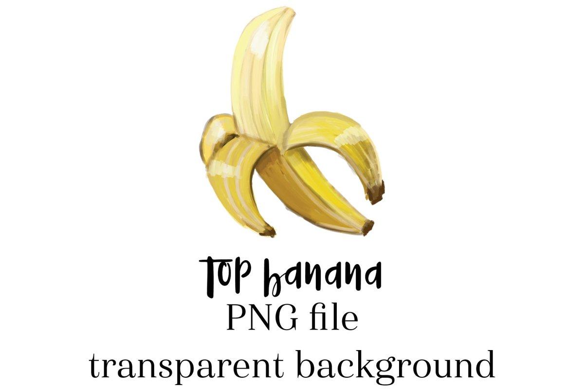 Top Banana Sublimation, shirt sublimation, banana design example image 1