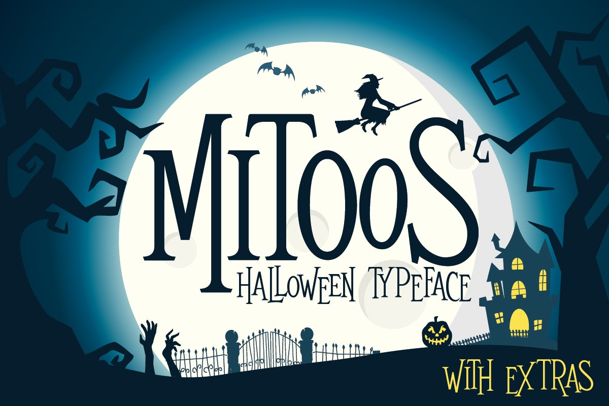Mitoos Halloween typeface with extras example image 1