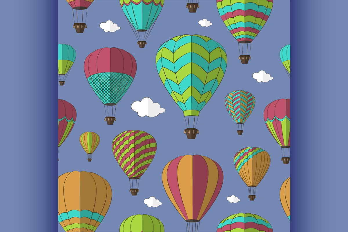 Air Balloons set pattern example image 1