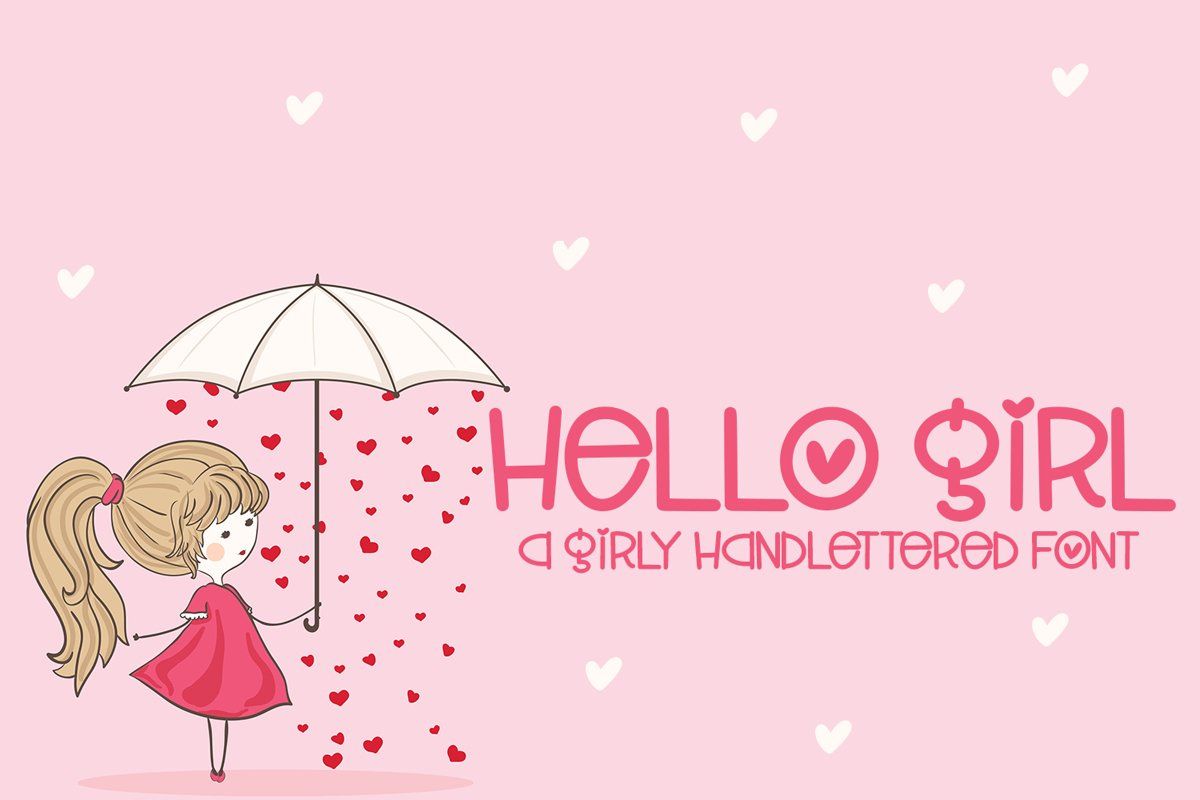 Hello Girl - A Girly Hand-Lettered Font example image 1
