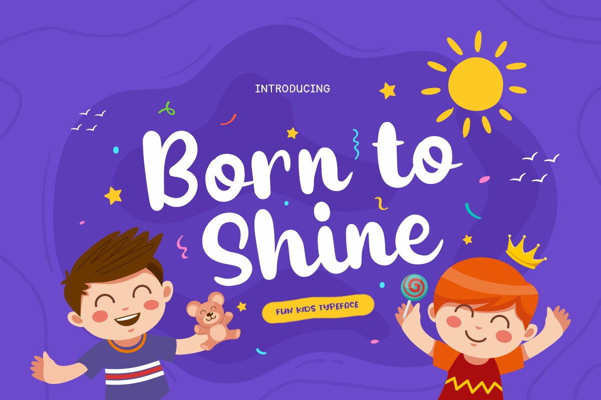 Born to Shine - Cute Baby Font example image 1
