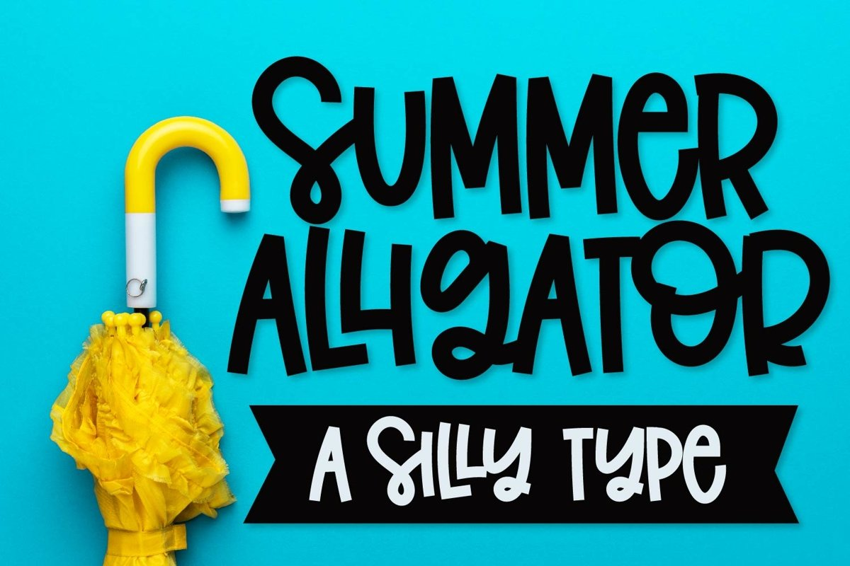 Summer Alligator - A Clean Craft Friendly Type! example image 1