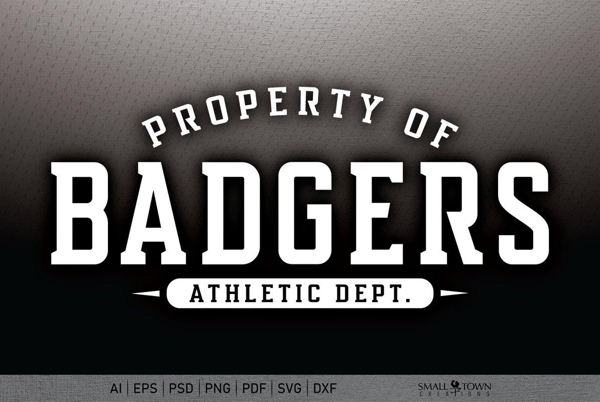 Badger, Badger Athletics, Badger svg, PRINT, CUT, DESIGN example image 1