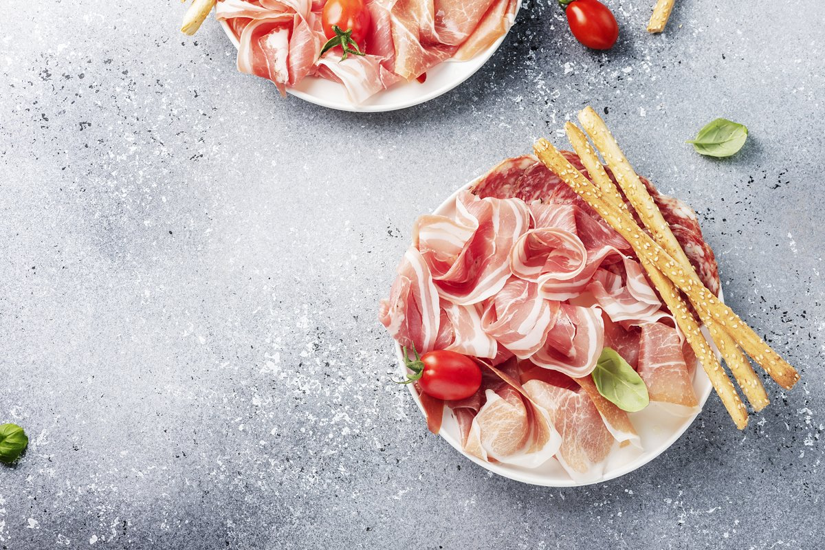 traditional italian antipasto with ham example image 1