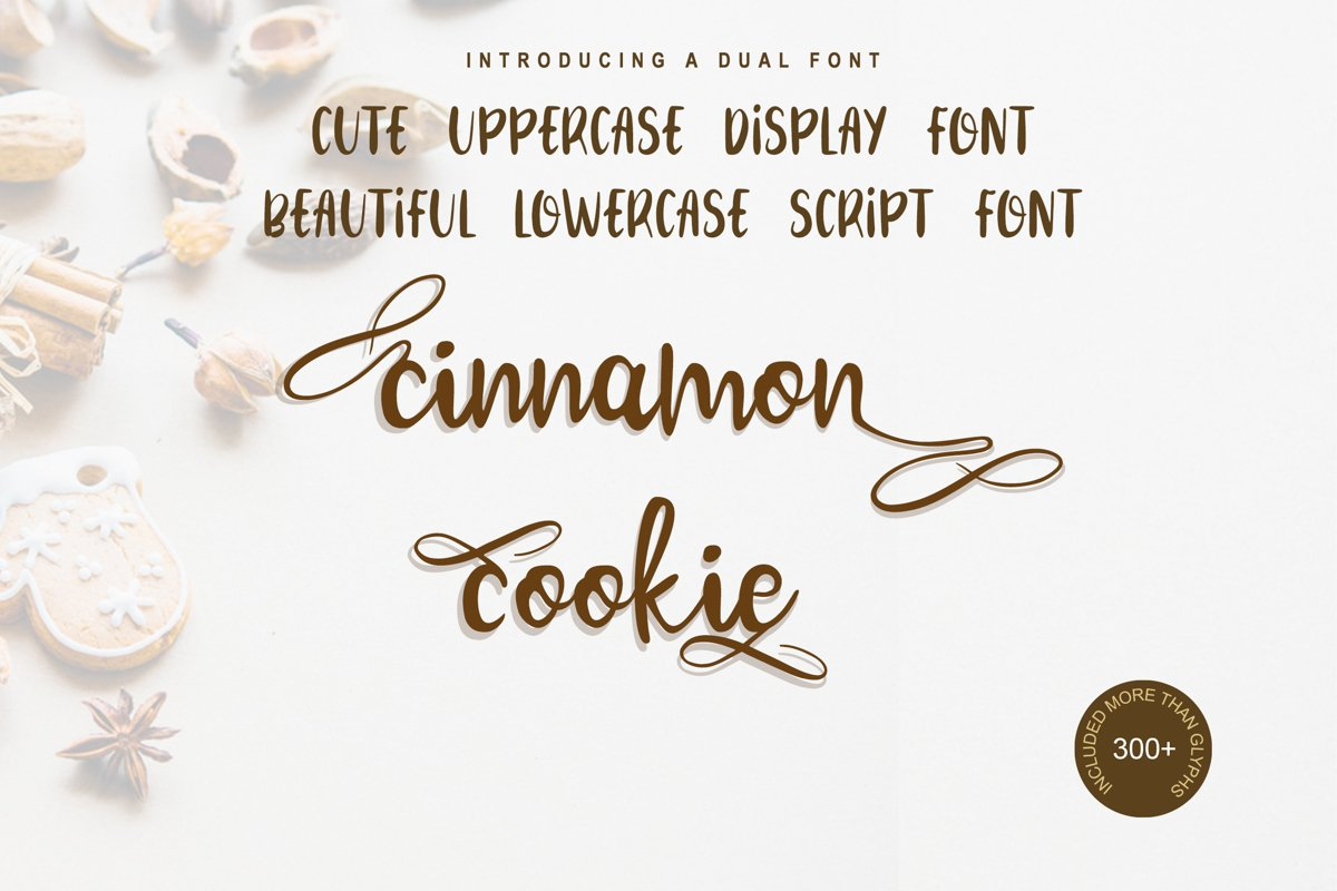 Cinnamon Cookie - Two Style Font example image 1