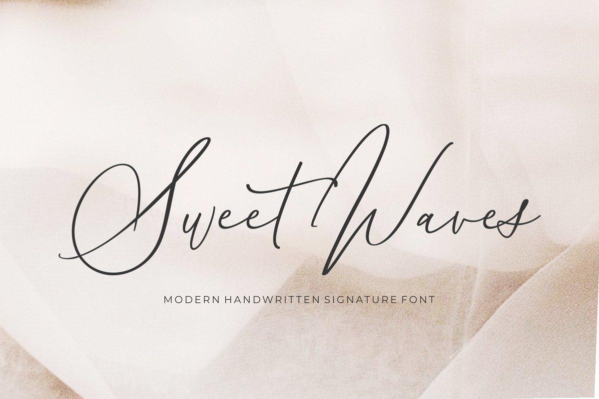 Sweet Waves - Luxury Handwritten example image 1