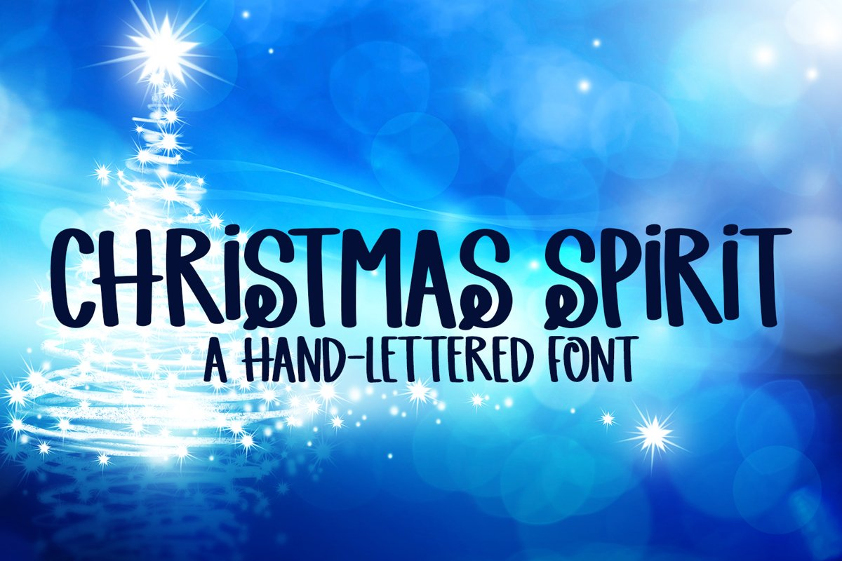 Christmas Spirit - A Hand-Lettered Christmas Font example image 1