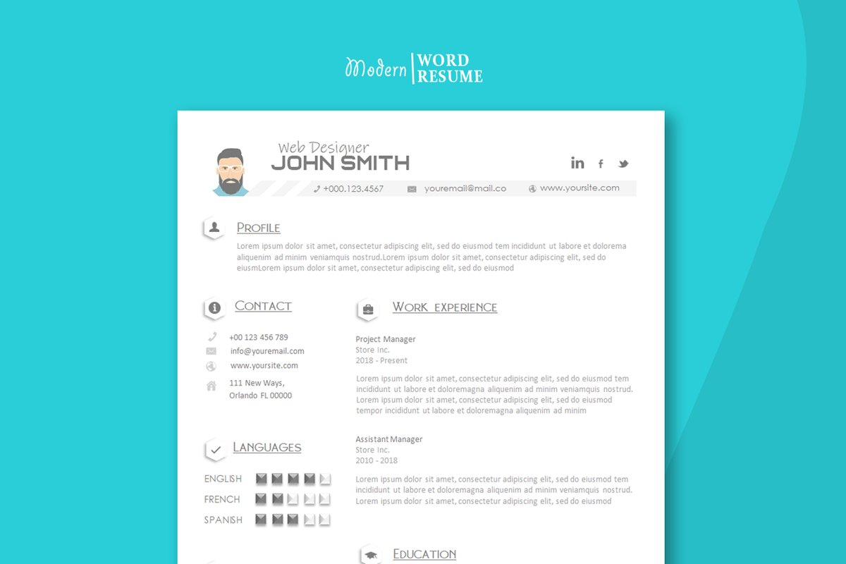 Resume Template   Cover Letter   Reference Page in MS Word ...