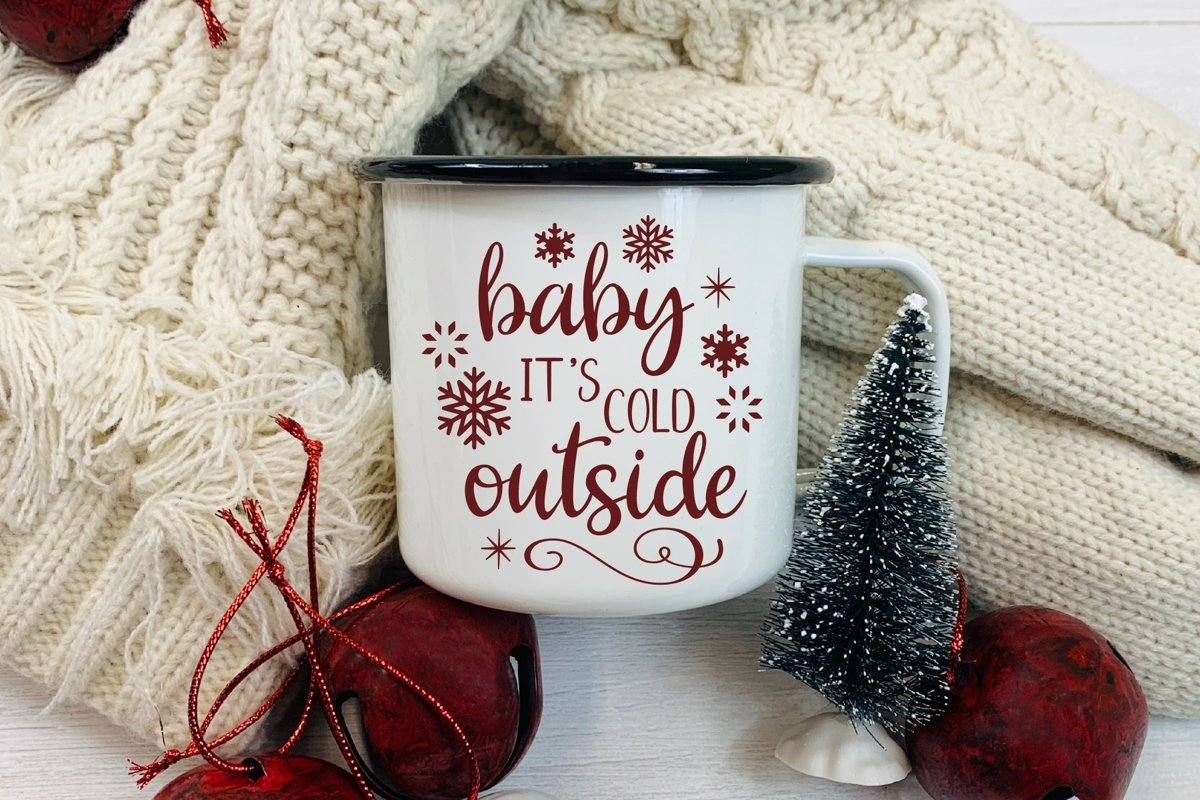 Baby It's Cold Outside SVG DXF PNG example image 1