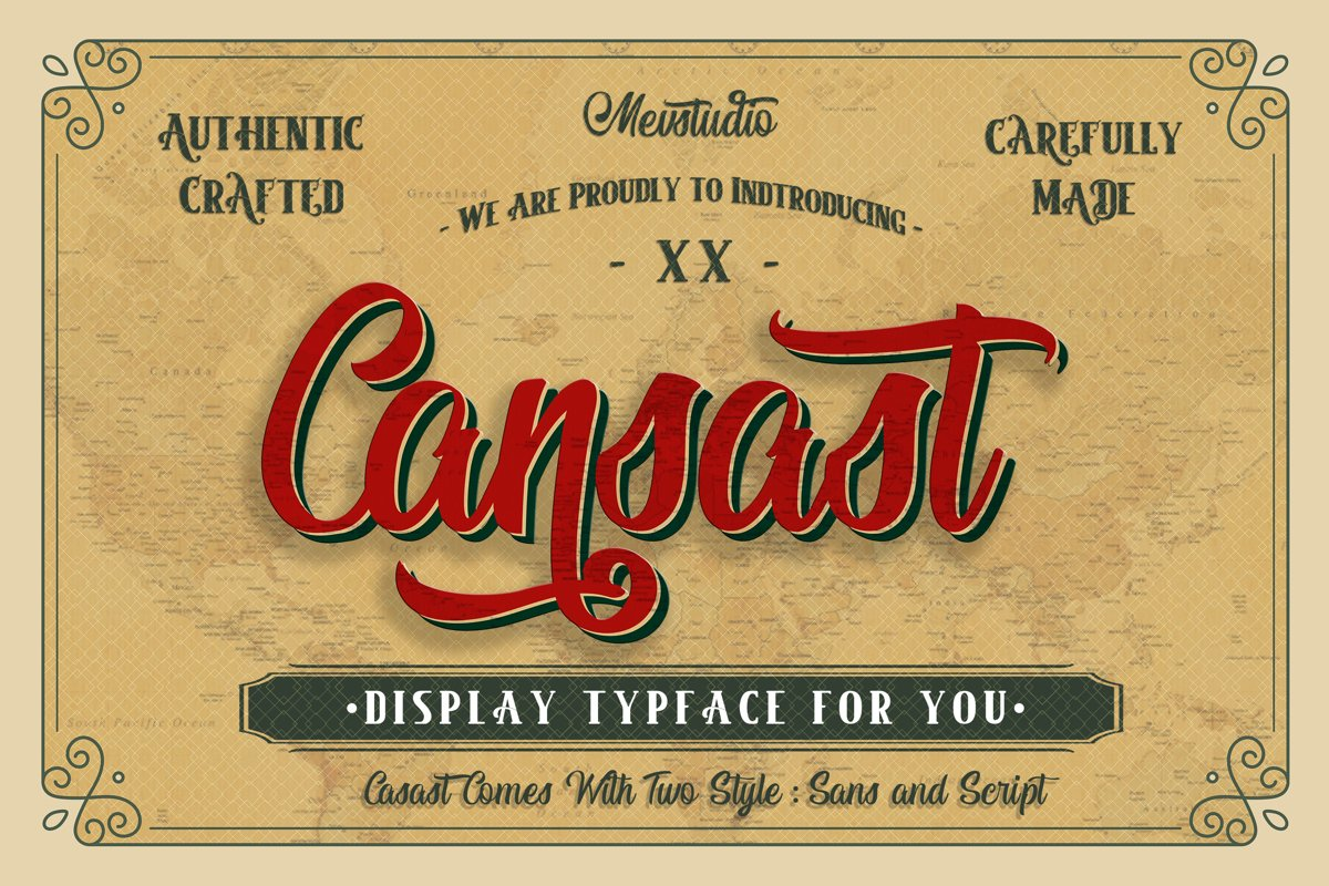 Cansast Font Duo example image 1