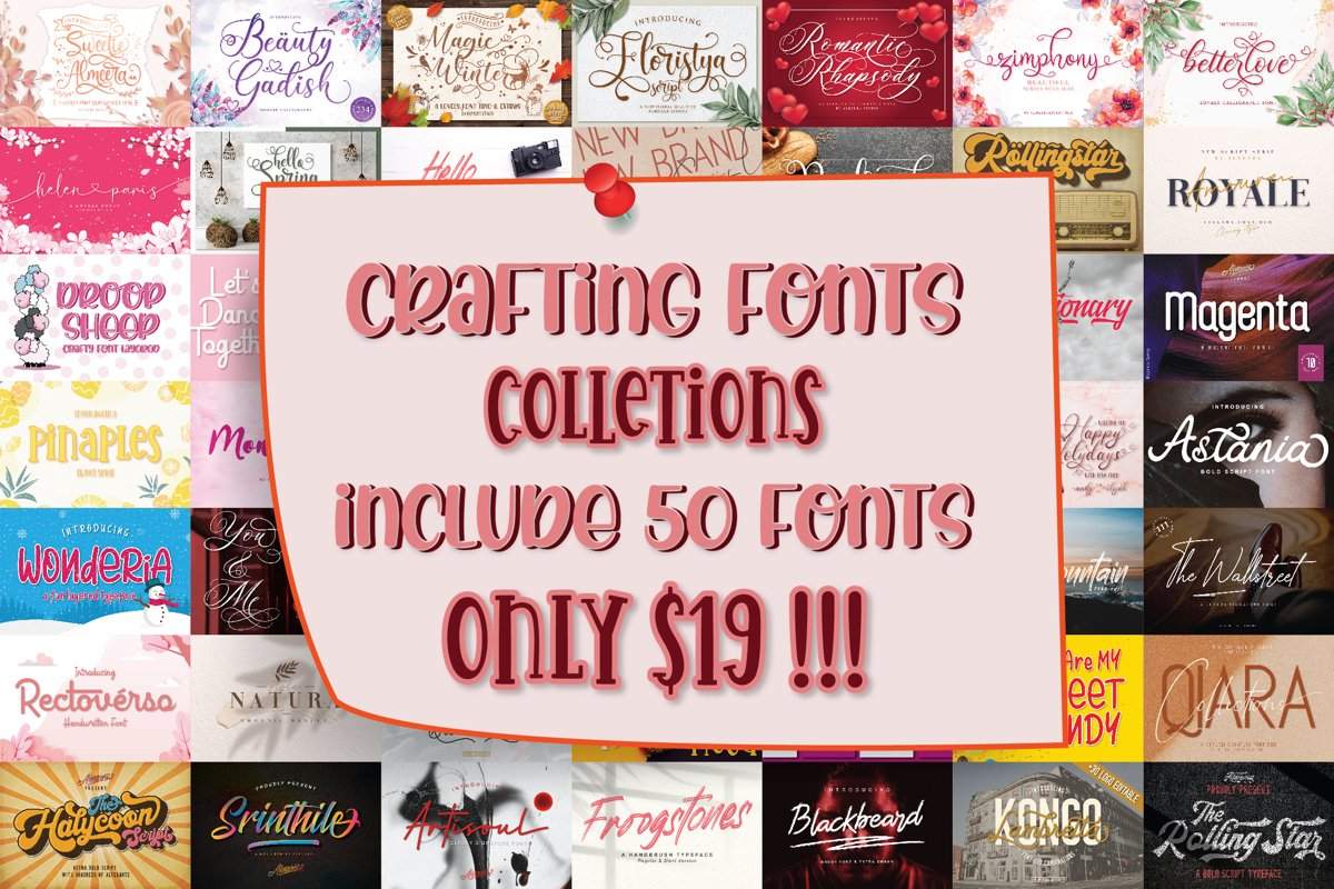 CRAFTING FONT COLLECTIONS - BUNDLE example image 1