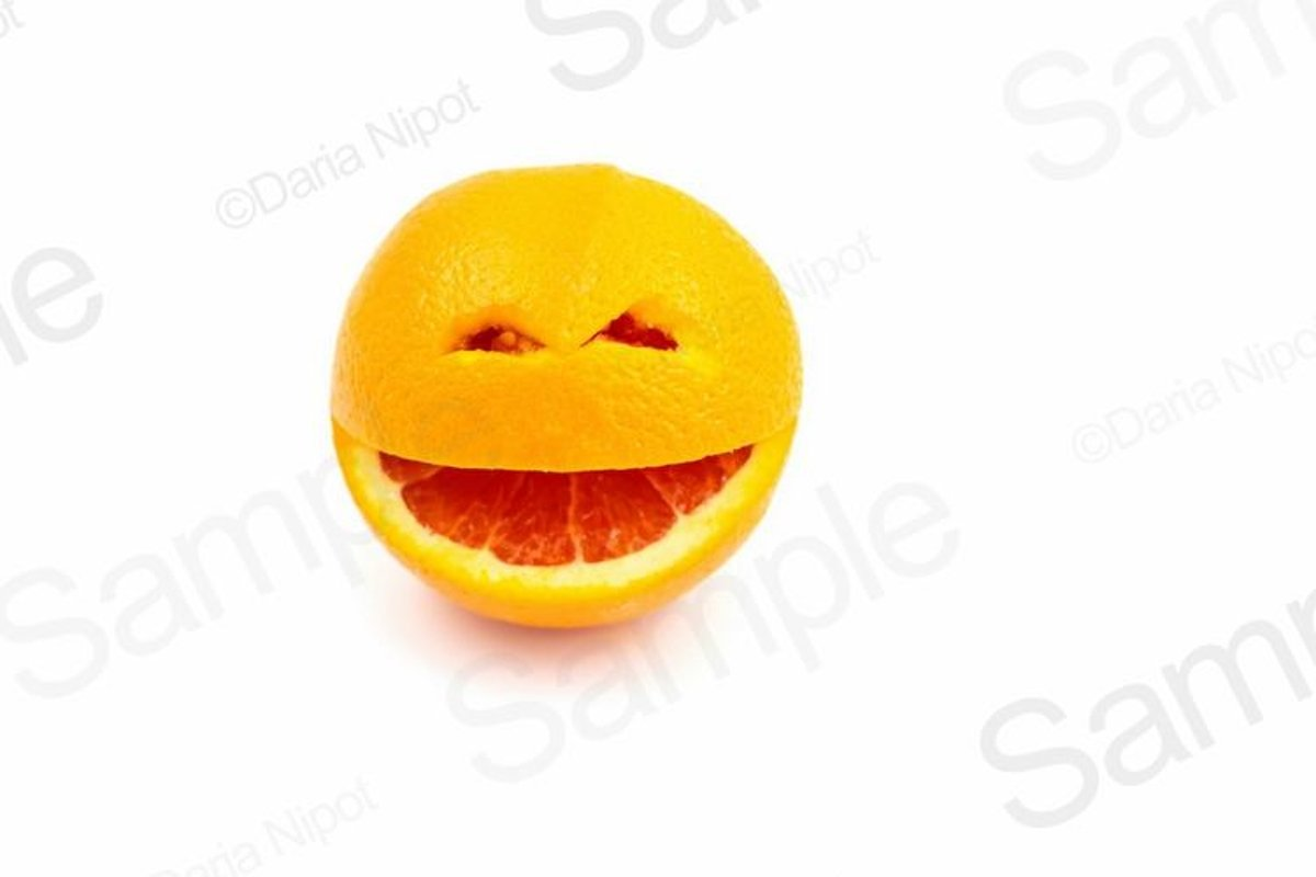 Smiling orange fruit example image 1