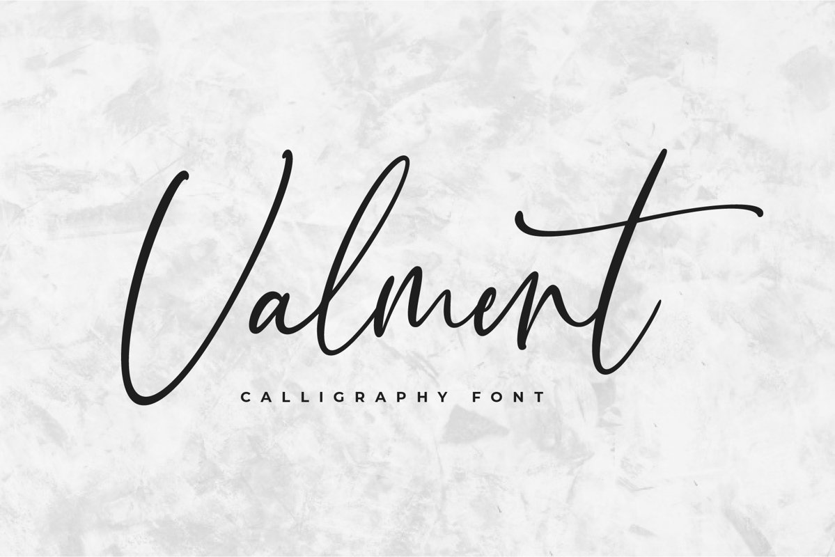 Valment Calligraphy Font example image 1