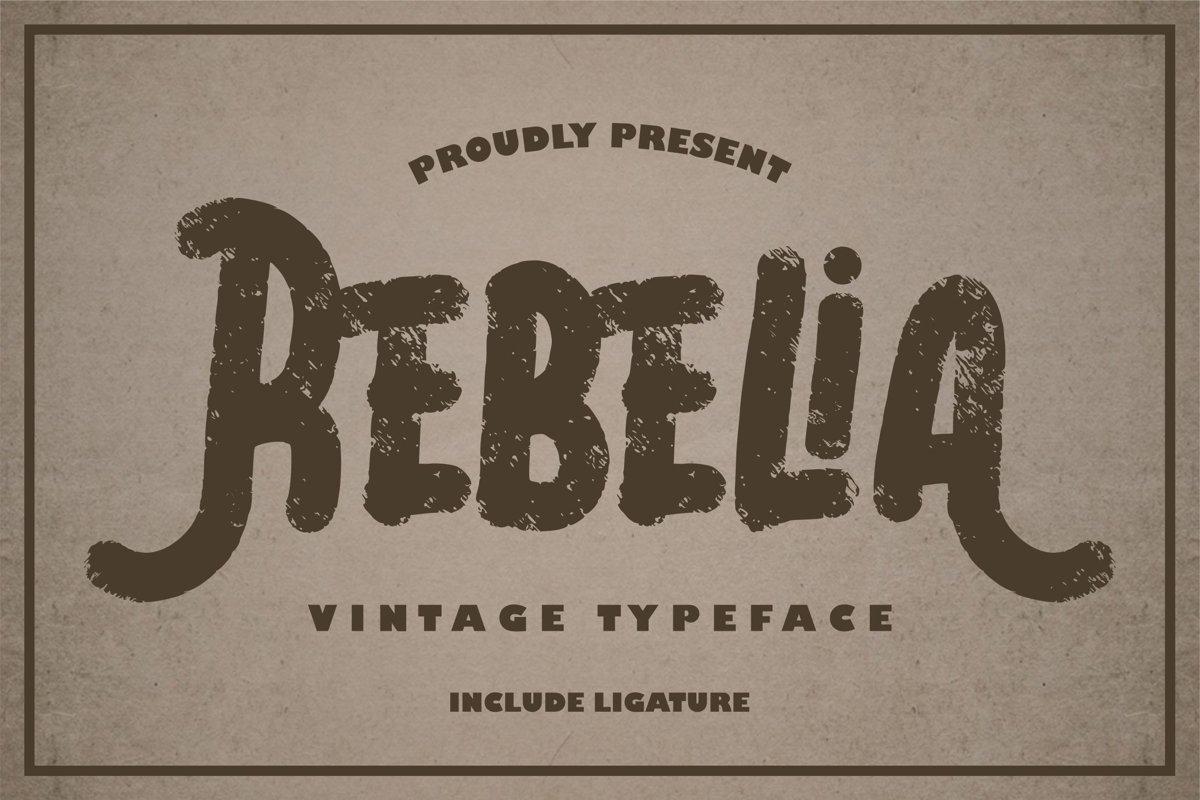 Rebelia | Vintage Typeface example image 1