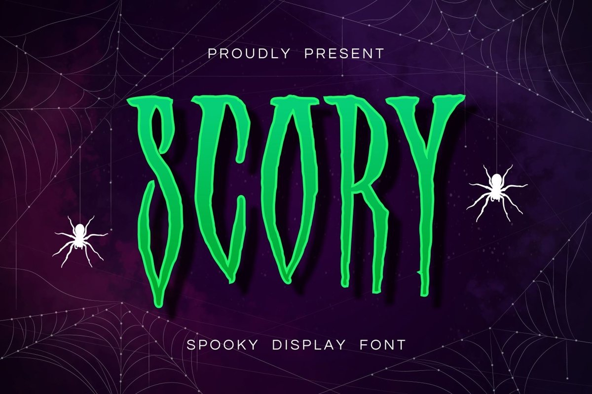 Scory - Spooky Display Font example image 1