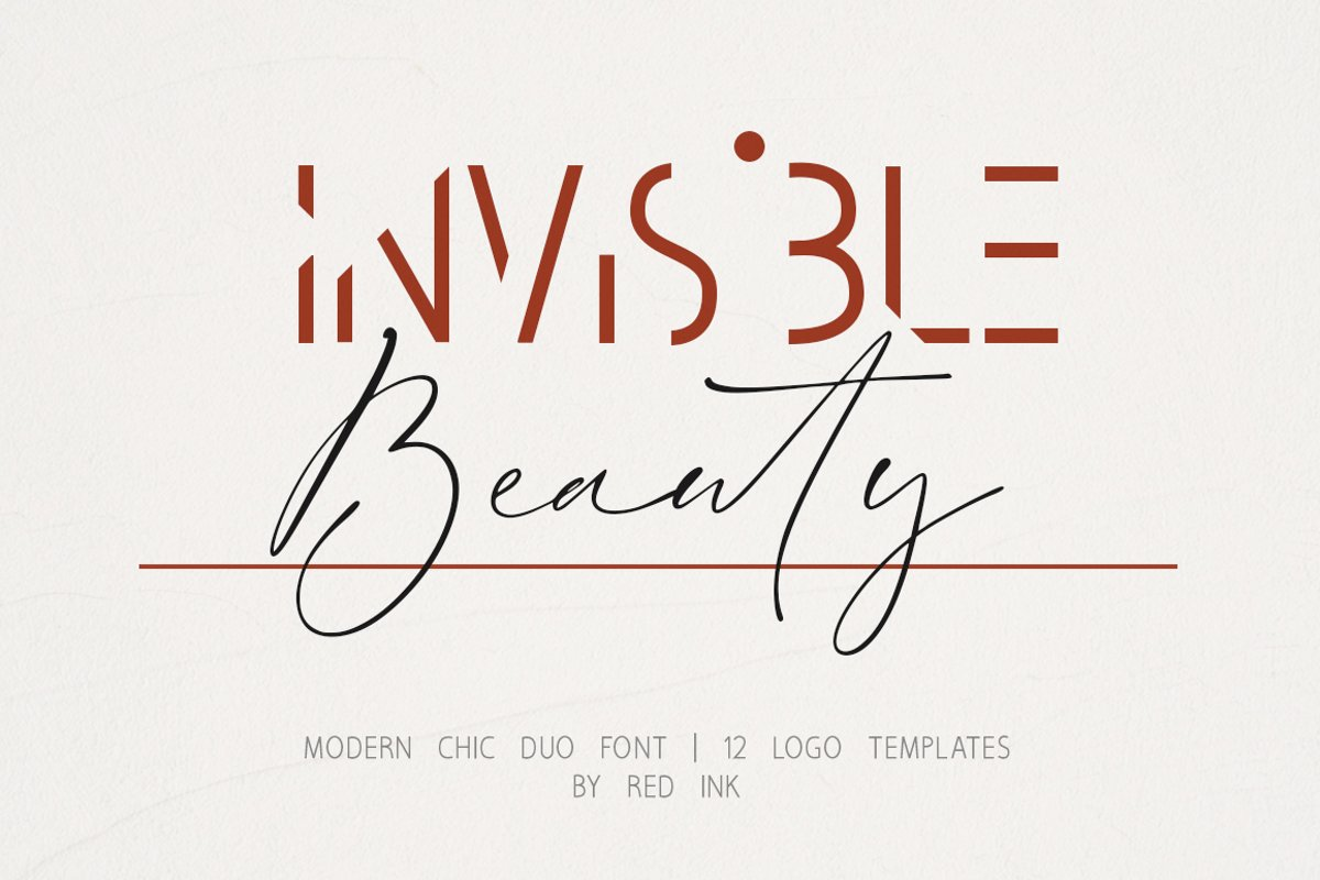 Invisible Beauty. Chic Duo Font. example image 1
