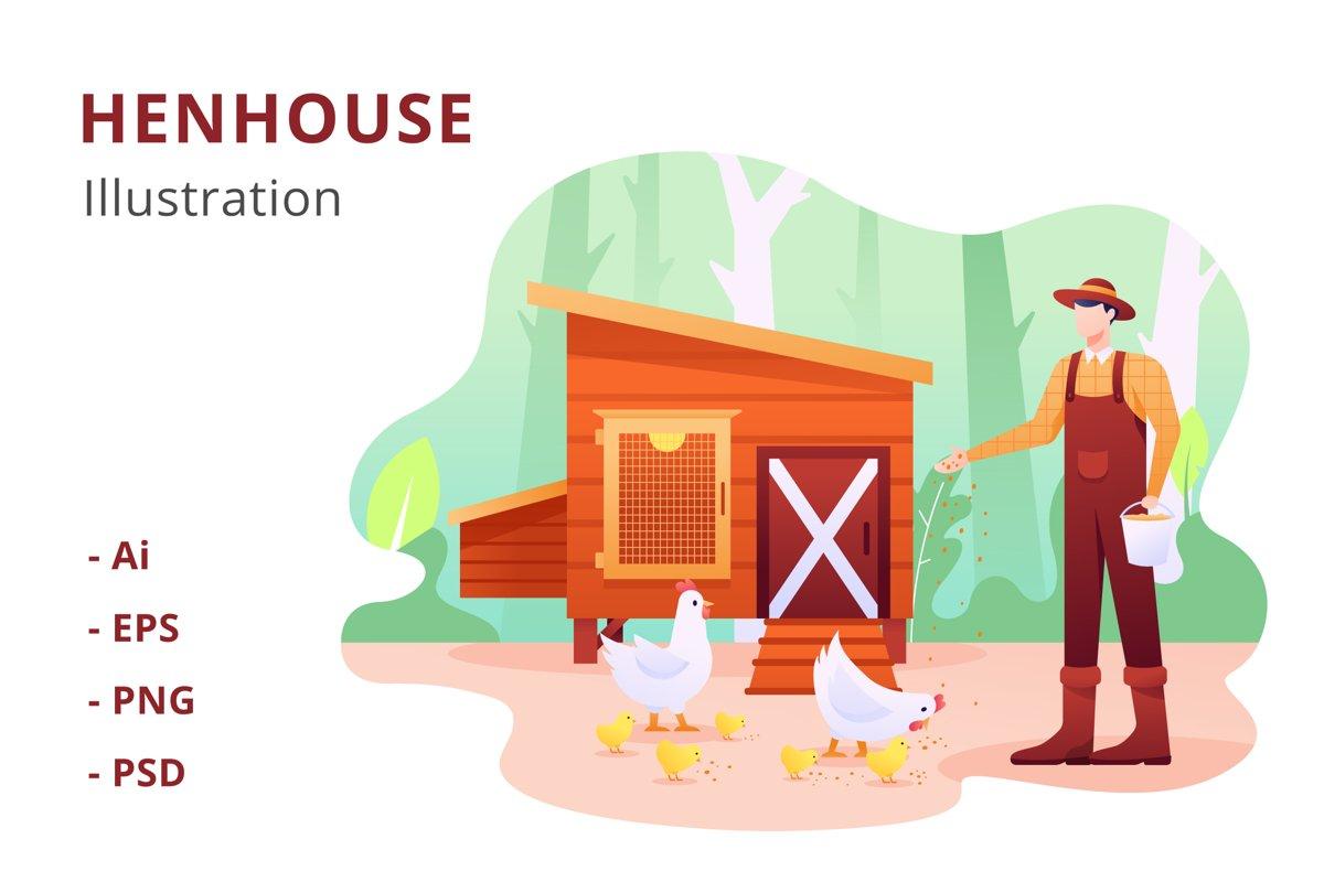 Henhouse Illustration example image 1