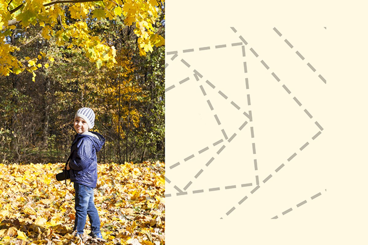 Child photographer in the autumn park example image 1