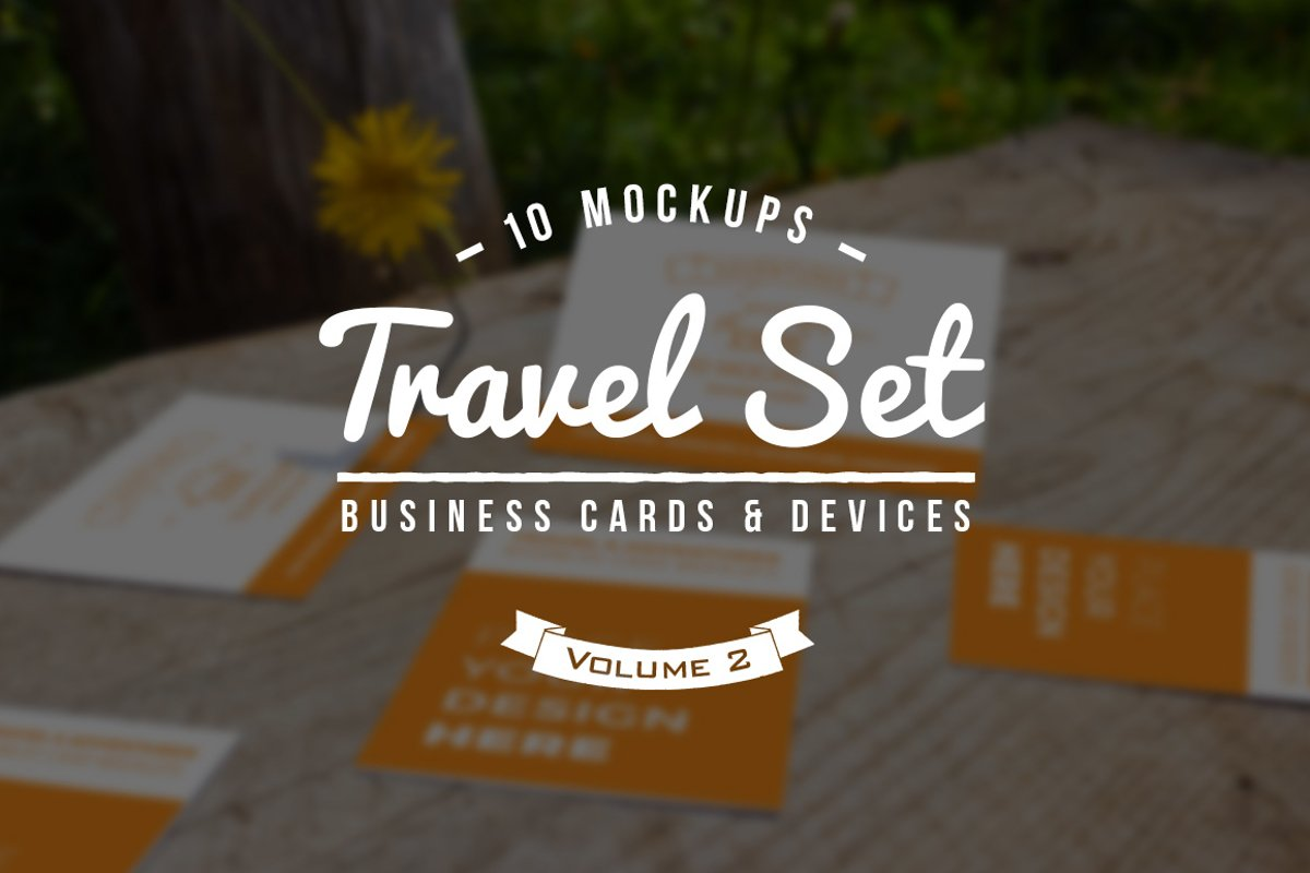 10 Fresh Business Card Mockups vol.2 example image 1