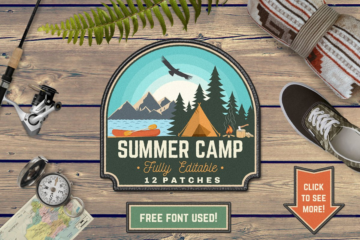 Summer Camp Patches Part 2 example image 1