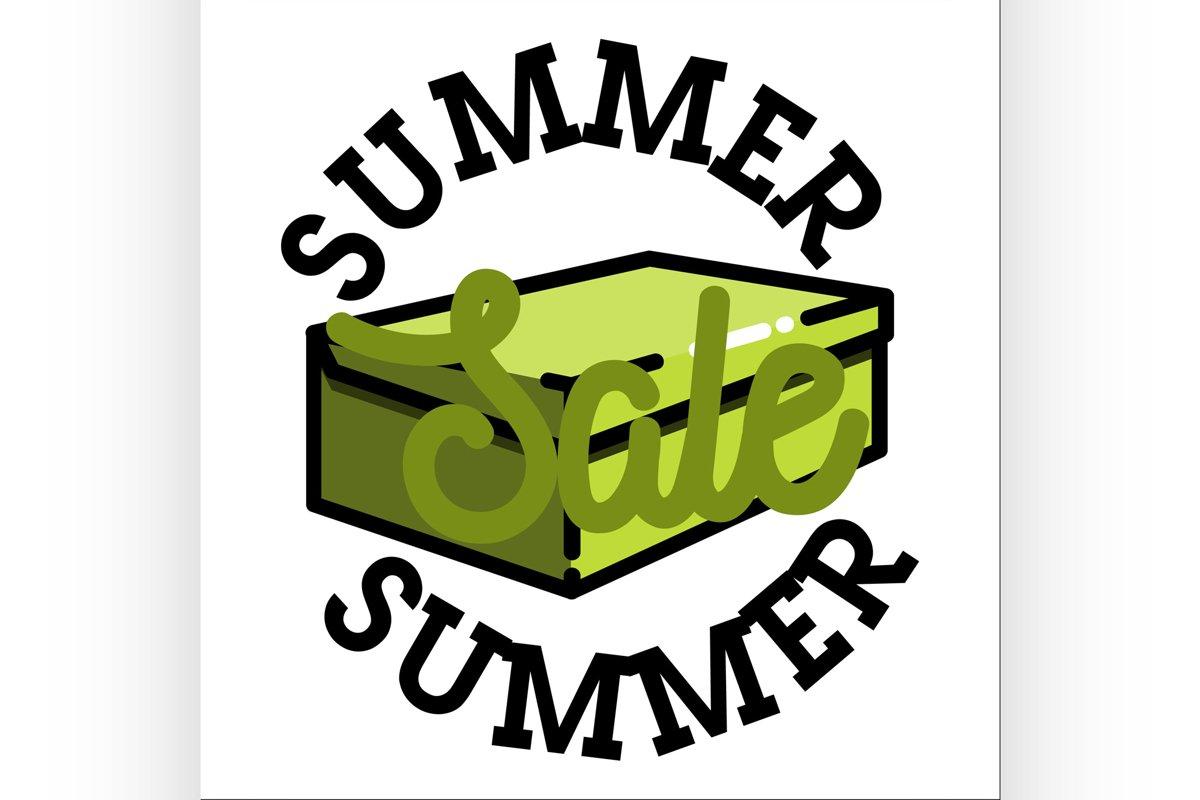 Color vintage summer sale emblem example image 1