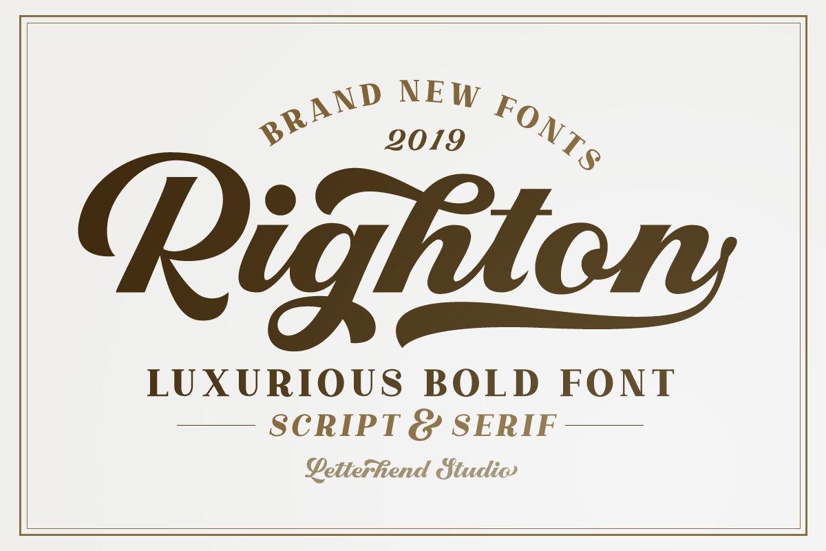 Righton - Script & Serif Font Duo example image 1