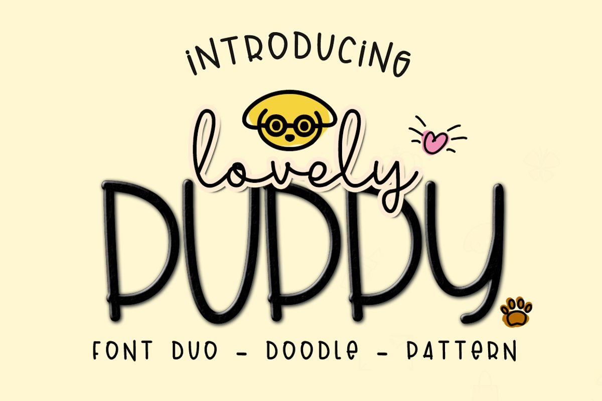 Lovely Puppy - Font duo with bonus example image 1