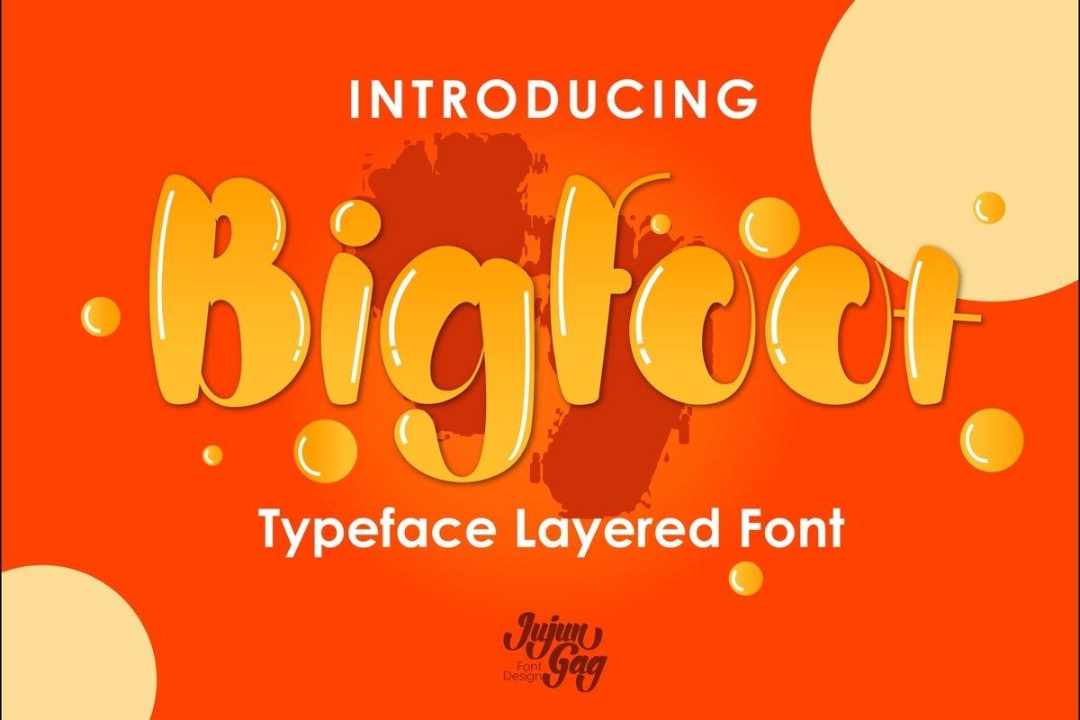 Bigfoot Typeface Layered Font example image 1
