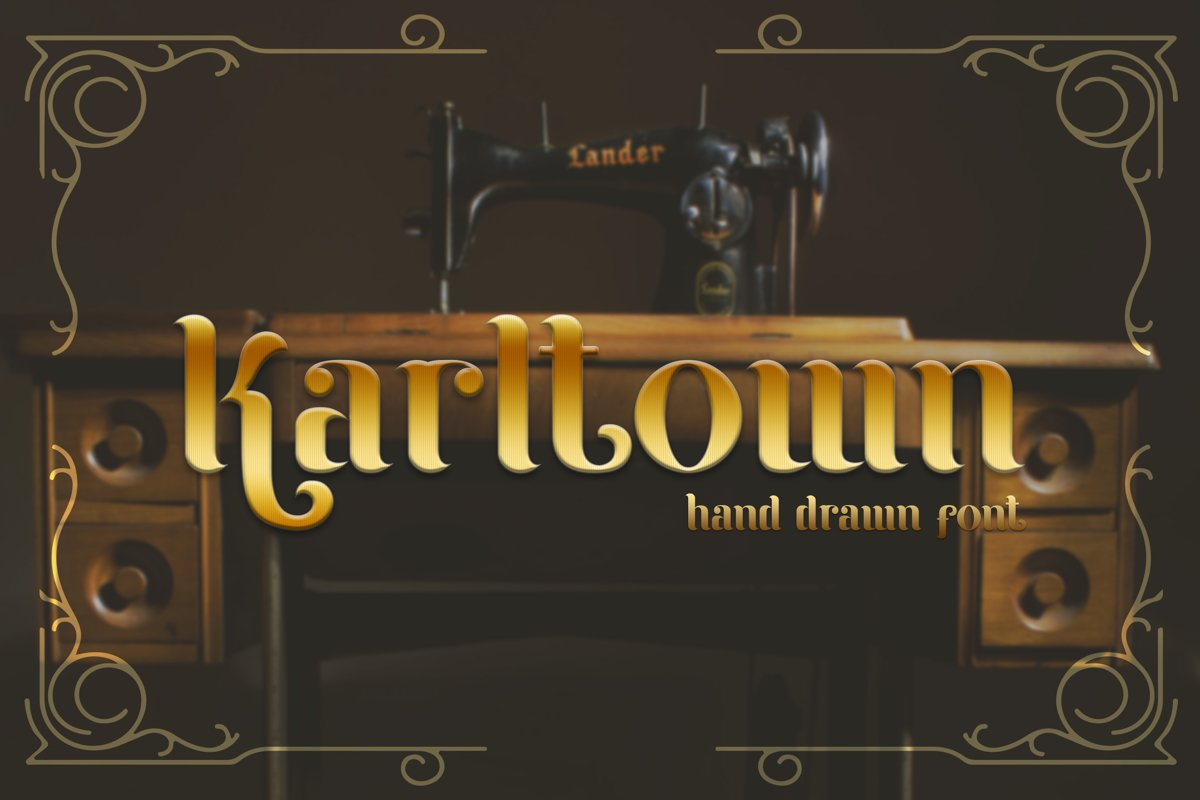 Karltown - Handdrawn Font example image 1