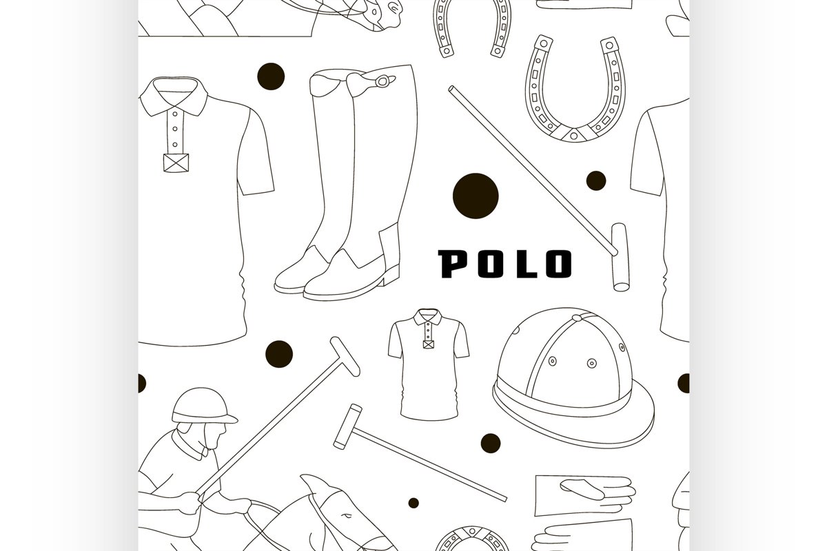 Polo objects, Sport uniform pattern example image 1