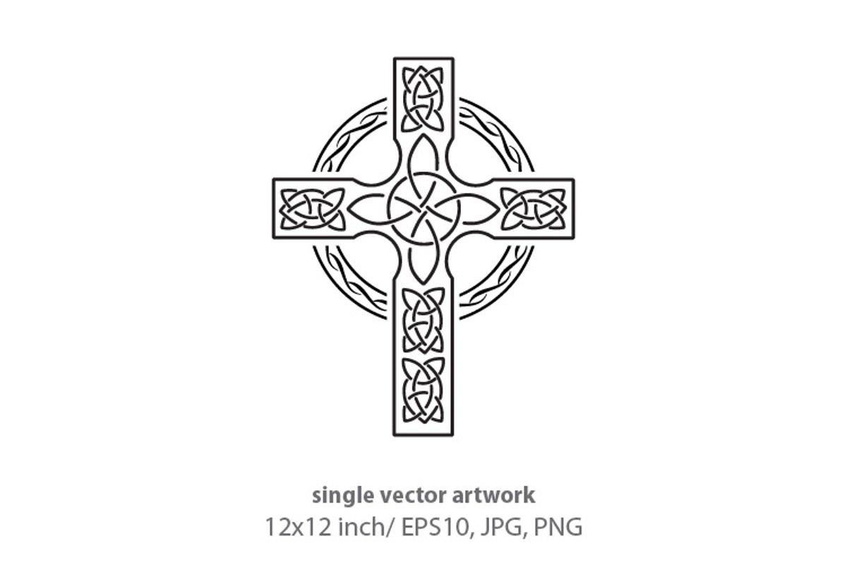 Simple Celtic Border- single vector artwork example image 1