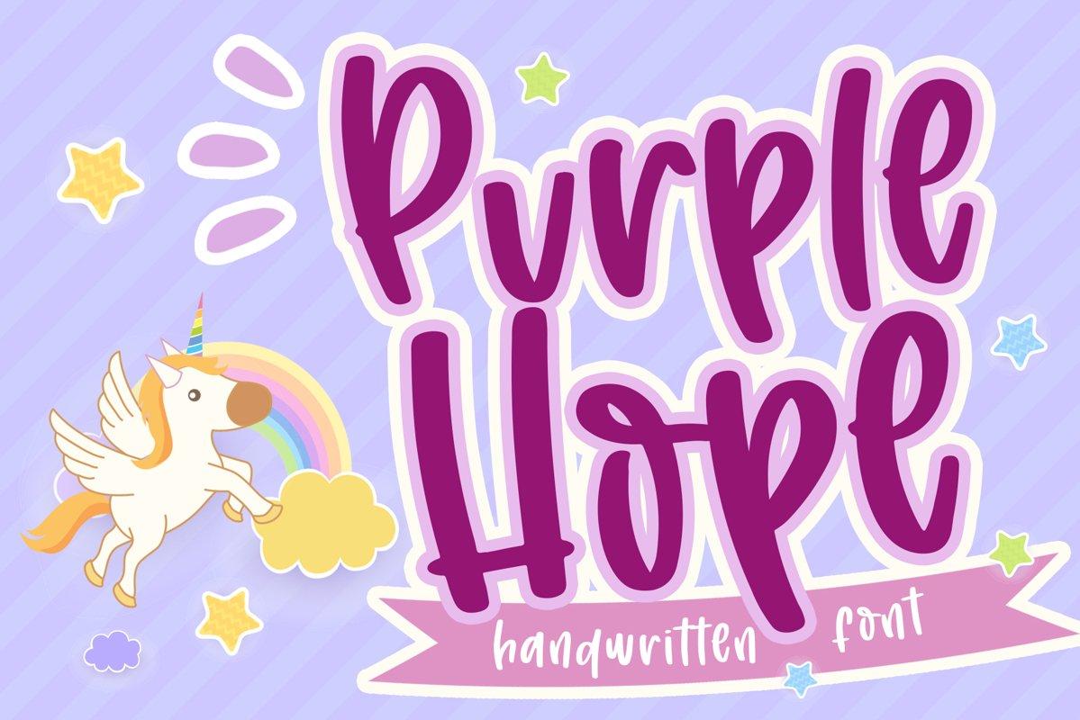 Purple Hope - Handwritten Font example image 1