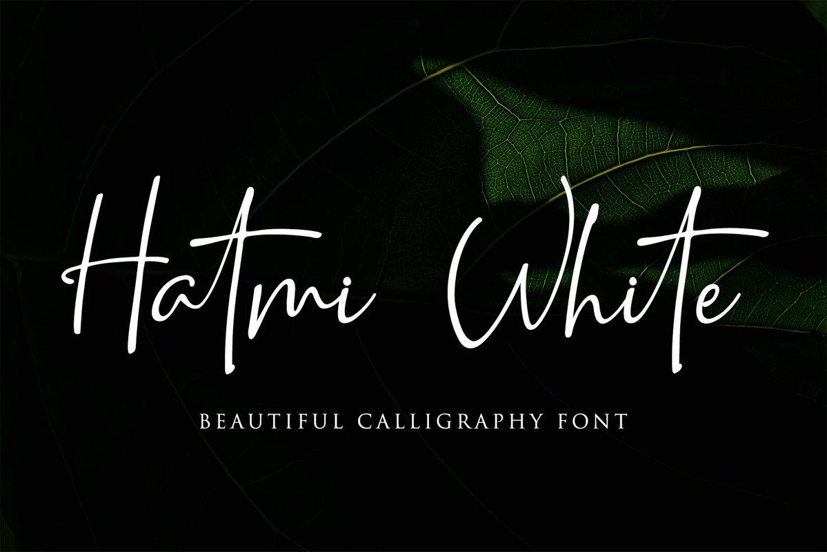 Hatmi White -Beautiful Calligraphy example image 1