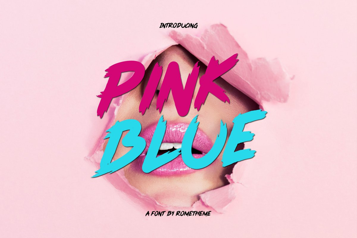 Pink Blue Font example image 1