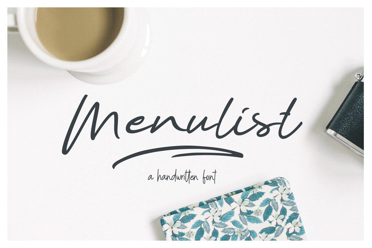 Menulist Typeface example image 1