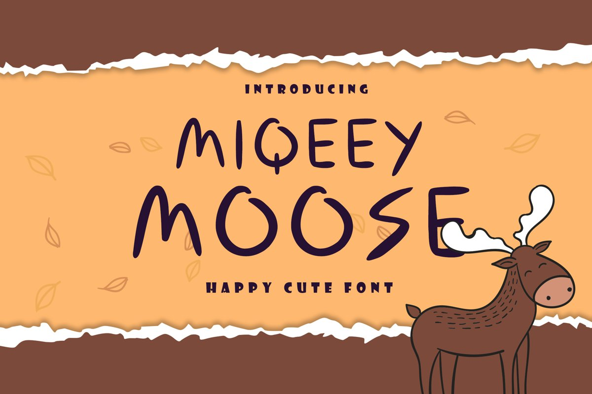 Miqeey Moose Happy Cute Font example image 1