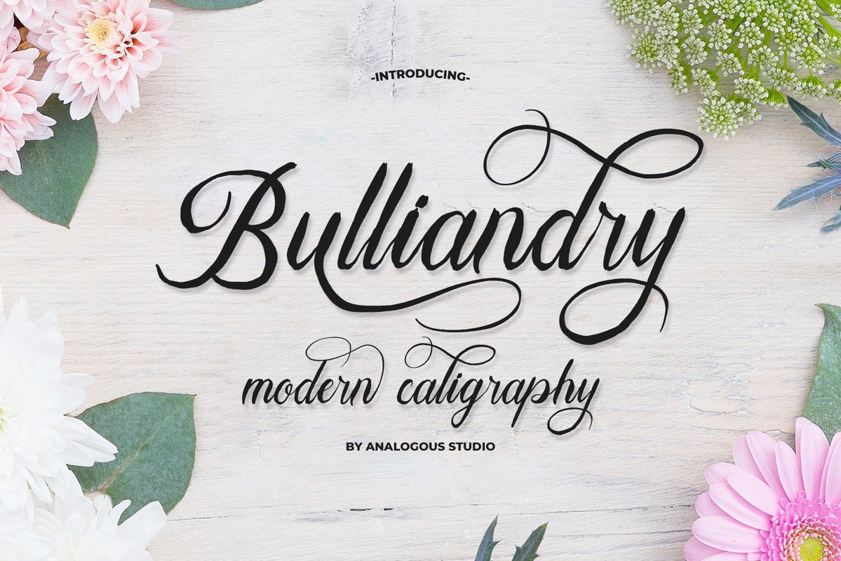 Bulliandry | Modern Calligraphy example image 1