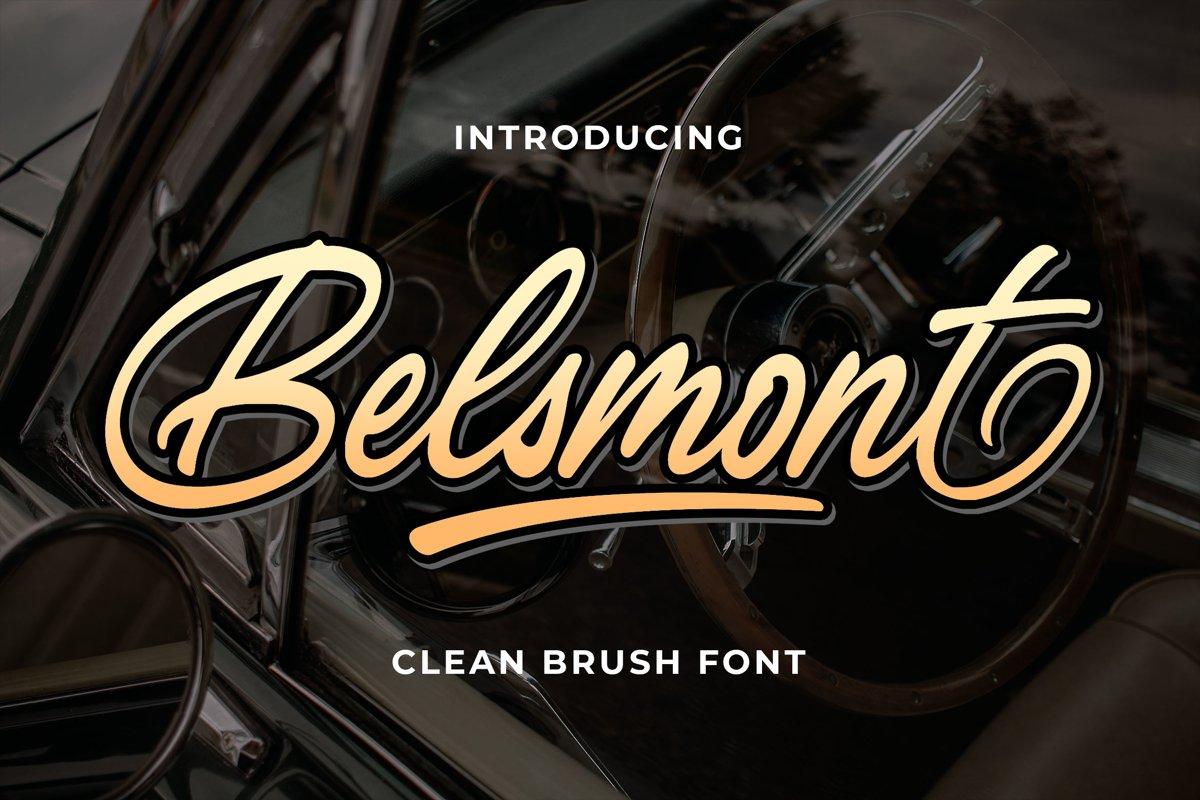 Belsmont - Clean Brush Font example image 1