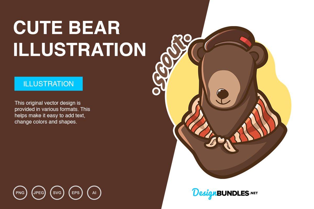 Cute Bear Vector Illustration example image 1