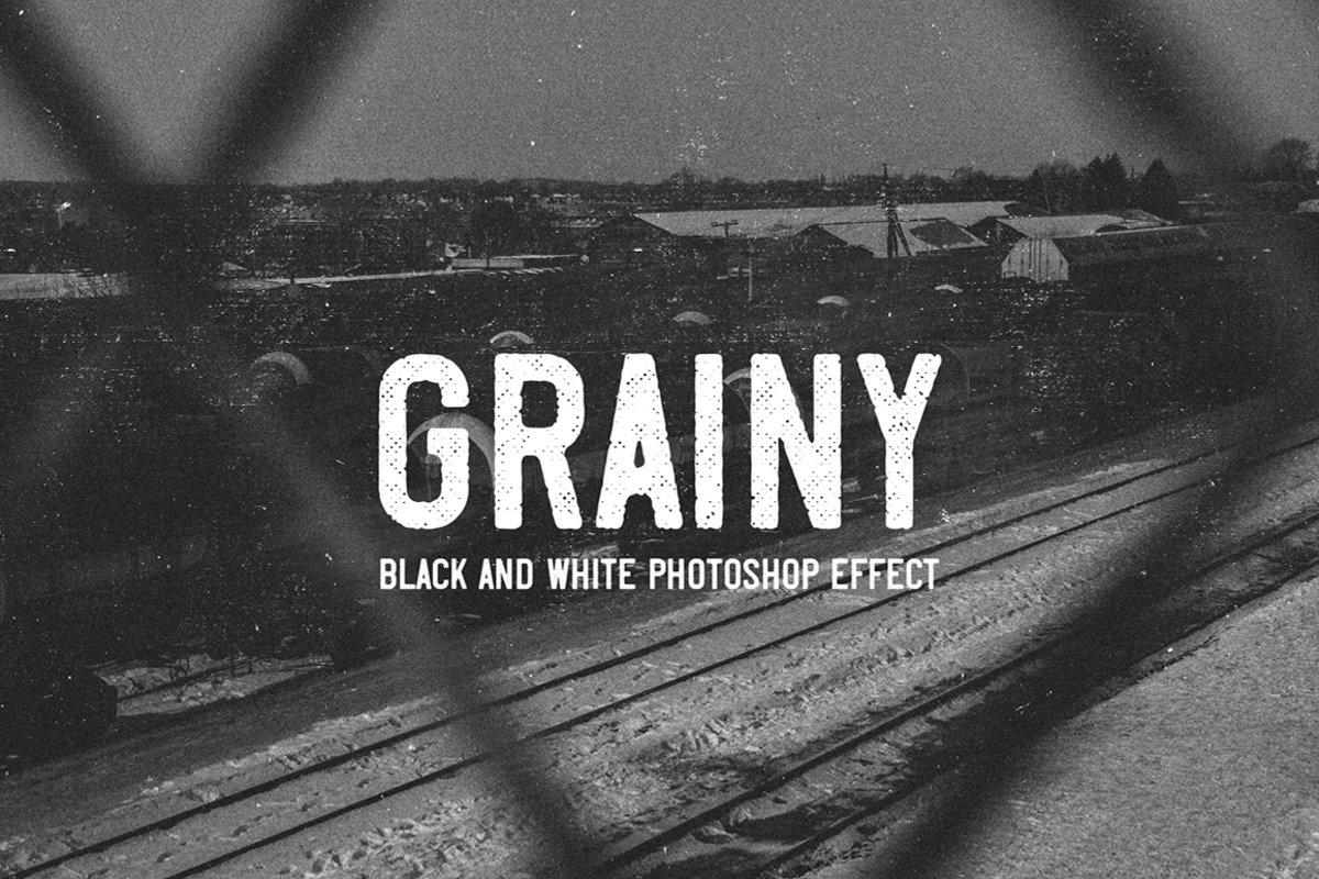 Grainy - Black and White Photoshop Effect example image 1