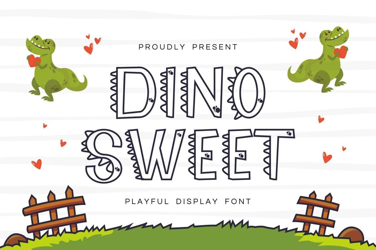 DinooSweet - Playful Display Font example image 1