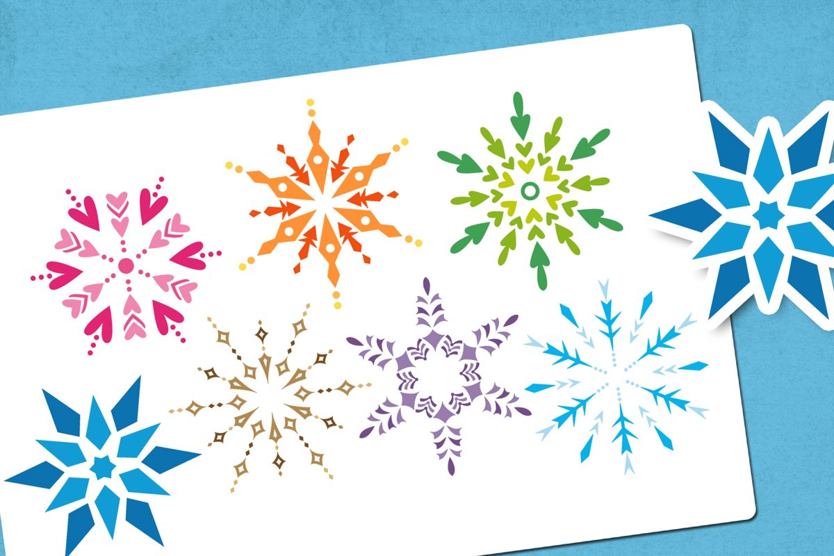 Winter snowflakes illustrations example image 1