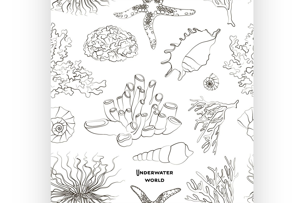 Pattern of underwater objects example image 1