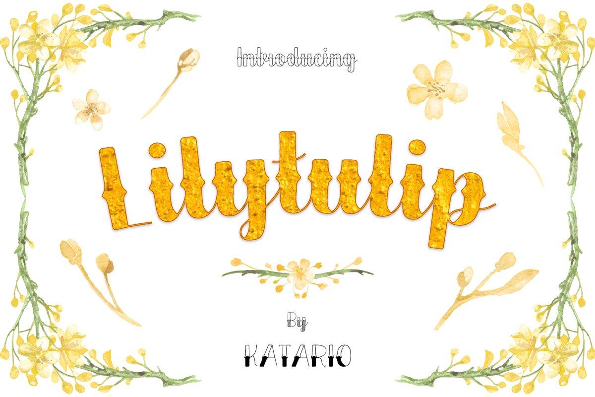 Lilytulip Script Font example image 1