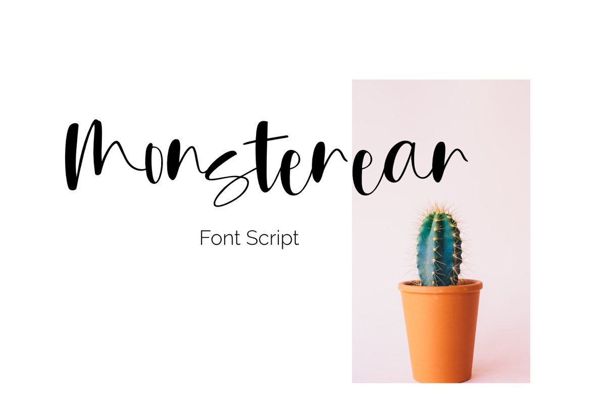 Monsterear font script example image 1